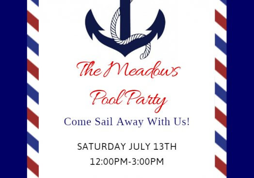 The Meadows Luxury Apartments Pool Party