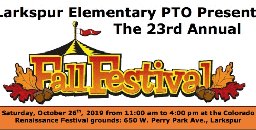 Larkspur Elementary PTO's 23rd Annual Fall Festival