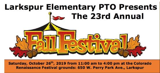 Larkspur Elementary PTO's 23rd Annual Fall Festival